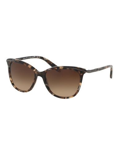 Ralph By Ralph Lauren Eyewear Essential 54mm Extended Temple Inlayed Cat-Eye Sunglasses-TOKYO TORTOISE-One Size