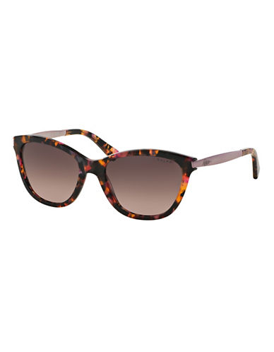 Ralph By Ralph Lauren Eyewear Essential 54mm Extended Temple Cat-Eye Sunglasses-RED HAVANA-One Size