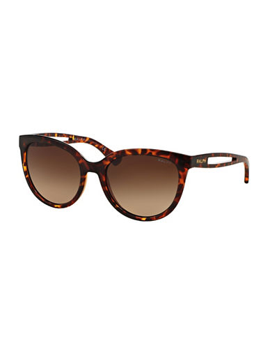 Ralph By Ralph Lauren Eyewear 55mm Cat-Eye Sunglasses-BROWN-One Size