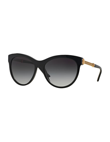 Versace Rock Icons 57mm Cat-Eye Sunglasses-BLACK-One Size