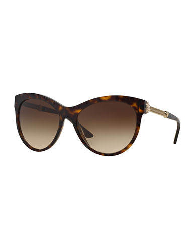 Versace Rock Icons 57mm Cat-Eye Sunglasses-BROWN-One Size