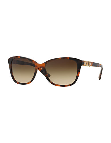 Versace Pop Chic 57mm Cat-Eye Sunglasses-TORTOISE-One Size