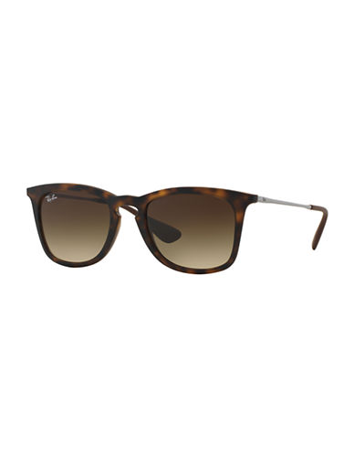 Ray-Ban Rubber Keyhole Sunglasses-RUBBER HAVANA (856/13)-50 mm