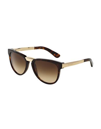 Dolce & Gabbana DNA 54mm Square Sunglasses-HAVANA-One Size