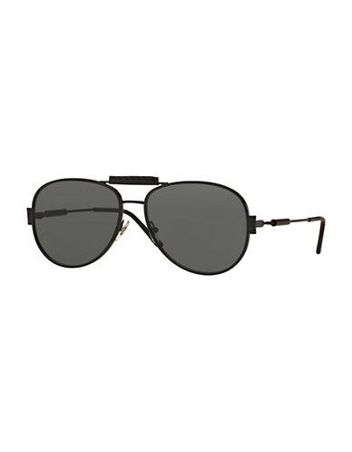 Versace 0VE2167Q 60mm Pilot Sunglasses-BLACK-One Size