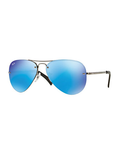 Ray-Ban Aviator Sunglasses-BLUE GREEN-59 mm