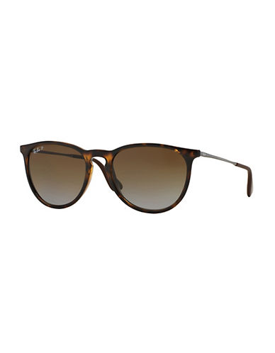 Ray-Ban Erika Round Sunglasses-HAVANA (710T5) (POLARIZED)-54 mm