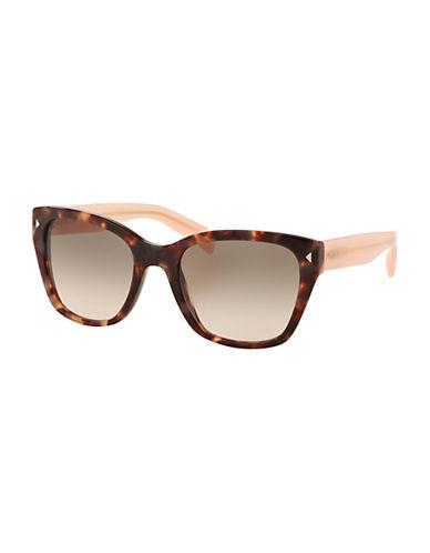 Prada 0PR09SS 54mm Square Sunglasses-HAVANA/PINK-One Size