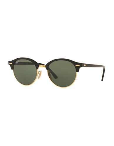 Ray-Ban Spot Havana 51mm Circle Sunglasses-BLACK/GREEN-49 mm