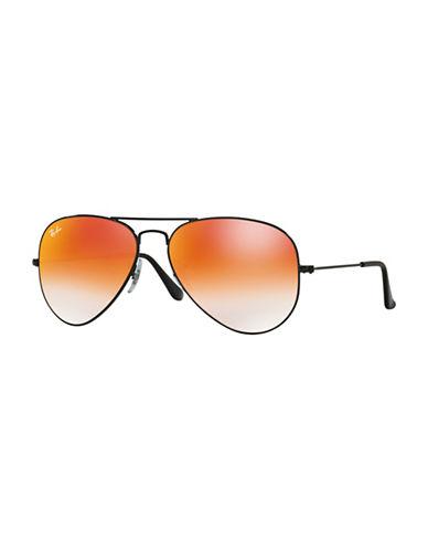 Ray-Ban Large Metal 58mm Aviator Sunglasses-BLACK-58 mm