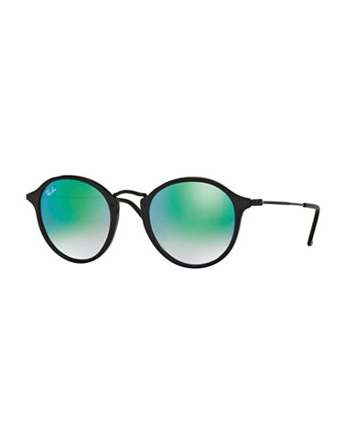 Ray-Ban 0RB2447 49mm Phantos Sunglasses-BLACK/GREEN-49 mm