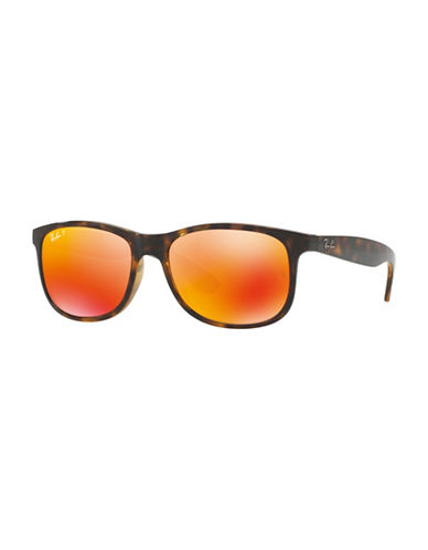 Ray-Ban 0RB4202 55mm Rectangle Sunglasses-BROWN-55 mm