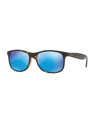 Ray-Ban ITA Injected  55mm  Wayfarer Sunglasses-BLACK-55 mm