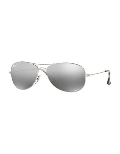 Ray-Ban 0RB3562 59mm Polar Flash Pilot Sunglasses-GREY-59 mm
