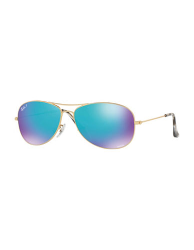 Ray-Ban 0RB3562 59mm Polar Flash Pilot Sunglasses-BLUE-59 mm