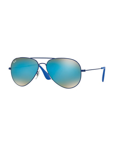 Ray-Ban 58mm Aviator Sunglasses-BLUE-58 mm