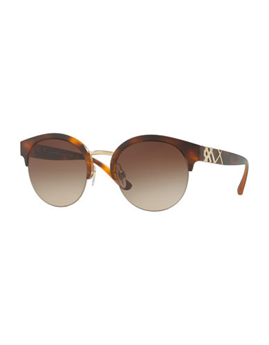 Ray-Ban 52MM Round Aviator Sunglasses-BROWN GRADIENT-61 mm