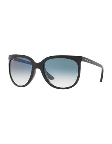 Ray-Ban 57MM Cats Eye Wayfarer Sunglasses-CLEAR GRADIENT-55 mm