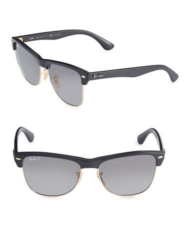 Ray-Ban 70mm Clubmaster Sunglasses-GREY-55 mm