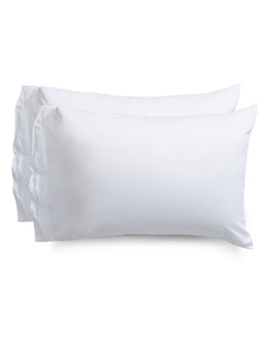 Frette Cruise Pillowcase-WHITE-Standard