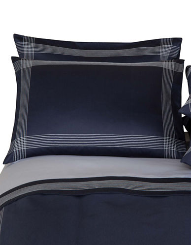 Frette Porto Pillow Sham-DARK BLUE-Standard