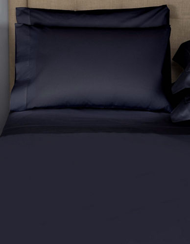Frette Single Ajour Egyptian Cotton Pillowcase-NAVY-King
