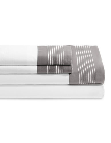 Frette Porto Three-Piece Sheet Set-WHITE-Queen