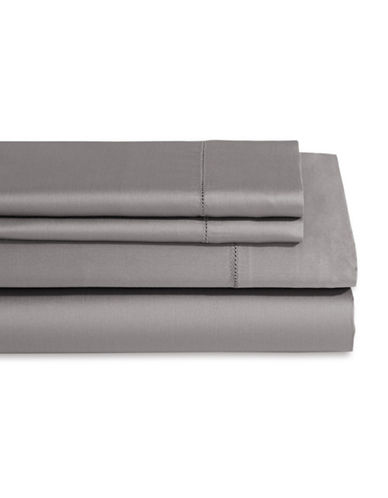 Frette Single Ajour Three-Piece Sheet Set-DARK GREY-Queen