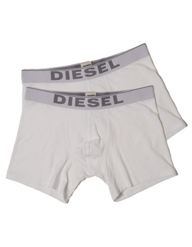 Diesel Two-Pack Essential Boxer Briefs-WHITE-X-Large