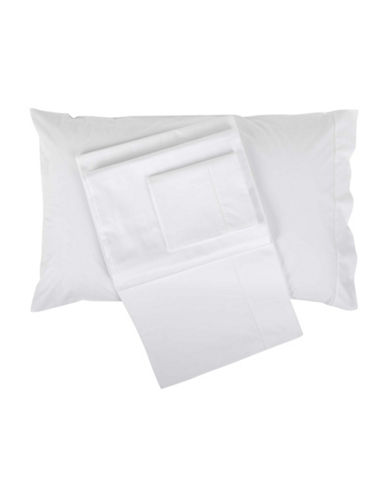 Frette Ajour Egyptian Cotton Sheet Set-WHITE-Queen