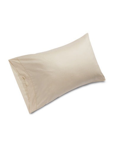 Frette Tonal Striped Pillowcase-BEIGE-Standard
