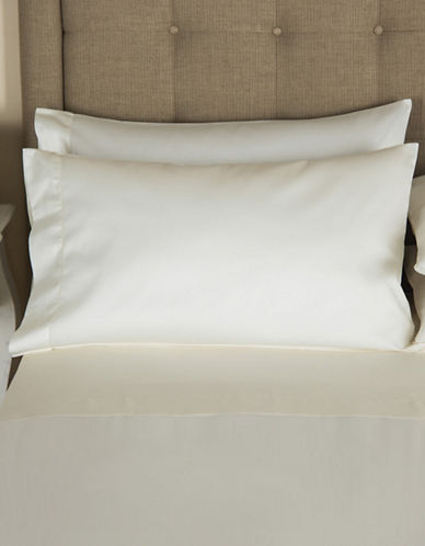 Frette Single Ajour Egyptian Cotton Pillowcase-IVORY-Standard