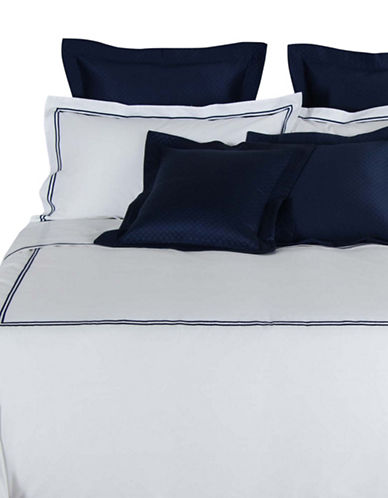 Frette Hotel Classic Egyptian Cotton Duvet Cover-NAVY-Queen