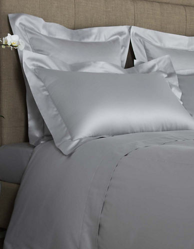 Frette Ajour Egyptian Cotton Sheet Set-GREY-Queen