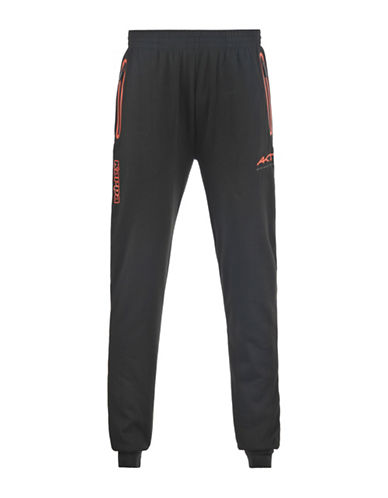 Kappa Slim-Fit Drawstring Cuffed Training Pants-BLACK-X-Large 88457565_BLACK_X-Large