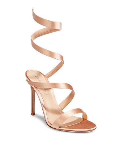 Gianvito Rossi Satin Wrap Sandal-POWDER-EUR 36/US 6