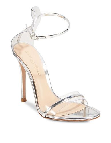 Gianvito Rossi Plexi Ankle-Strap Sandals-SILVER-EUR 40/US 10