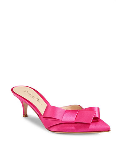 Gianvito Rossi Bow Slip-On Pumps-FUXIA-EUR 37.5/US 7.5