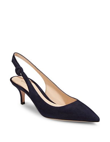 Gianvito Rossi Sling Back Suede Pumps-BLUE-EUR 37/US 7