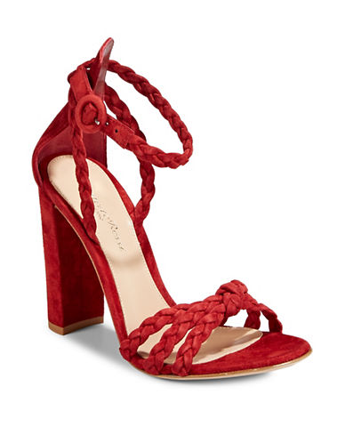 Gianvito Rossi Braided Dress Heeled Sandals-GRANATA-EUR 39.5/US 9.5
