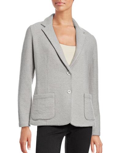 Eleventy Wool-Silk Popcorn-Stitch Jacket-GREY-Large 88644791_GREY_Large