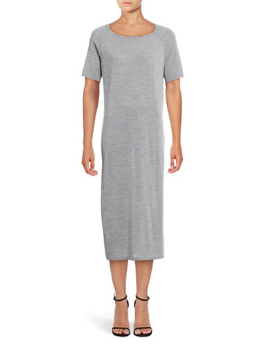 Eleventy Long Knit Dress-GREY-Large