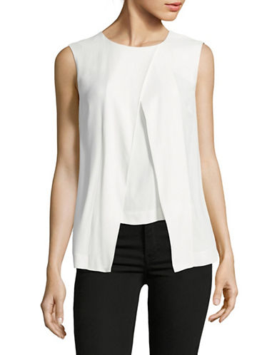 Eleventy Foldover Cady Top-WHITE-EUR 42/US 6