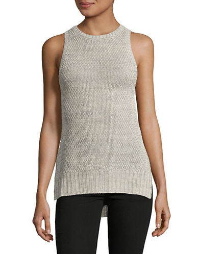Eleventy Linen Woven Top-GREY-X-Large