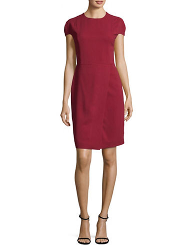Eleventy Cady Cap-Sleeved Dress-RED-EUR 46/US 10