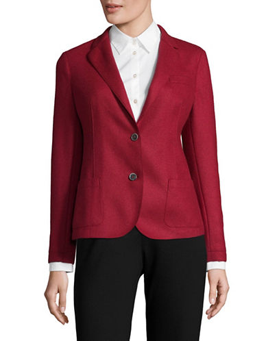 Eleventy Stretch Wool Classic Blazer-RED-EUR 40/US 4