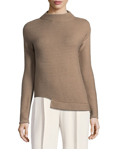 Eleventy Textured Knit Wool Sweater-CREAM-Medium