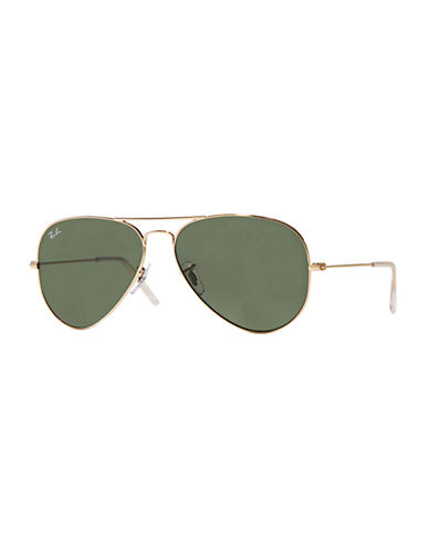 Ray-Ban Aviator Sunglasses-GOLD METAL-One Size