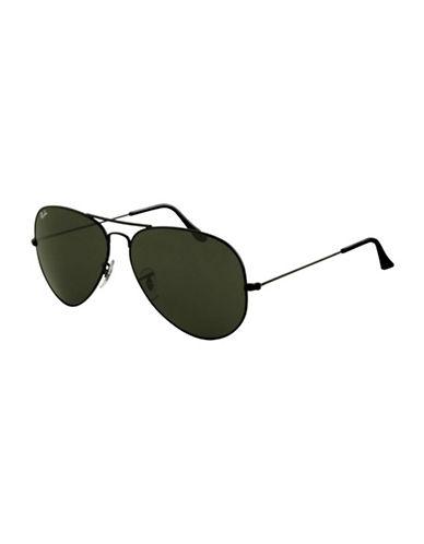 Ray-Ban Aviator Large Sunglasses-BLACK-One Size