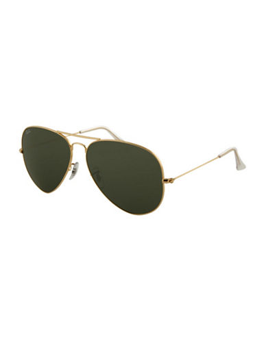 Ray-Ban Aviator Large Sunglasses-GOLD-One Size